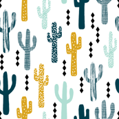 cactus mustard mint navy kids tri minimal white background trendy design for ss16 tropical trendy southwest kids nursery clothing baby decor