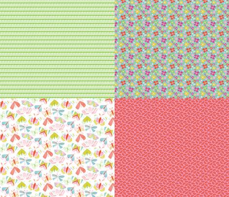 Butterfly Coordinates fabric by jillbyers on Spoonflower - custom fabric