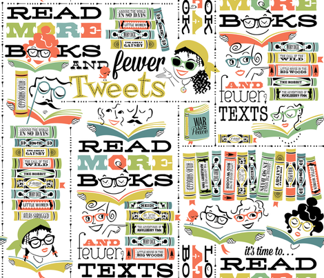 Read More Books fabric by sheri_mcculley on Spoonflower - custom fabric