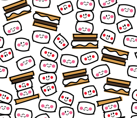 aloha smores fabric by alohababy on Spoonflower - custom fabric