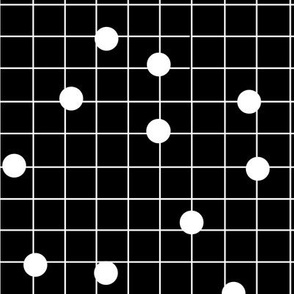 dot line black white