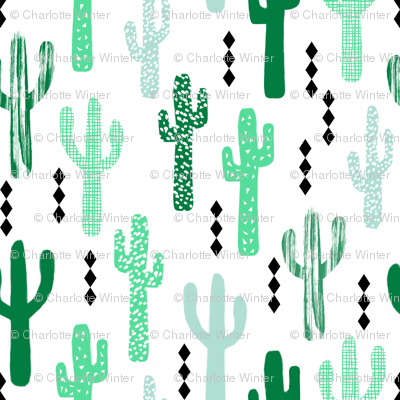 cactus greens grid tropical southwest design for trendy kids spring summer 2016