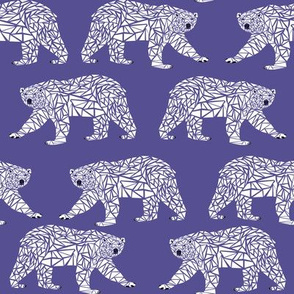 geometric polar bear - purple