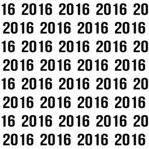 2016 happy new year letters numbers new years design in black and white minimal trendy
