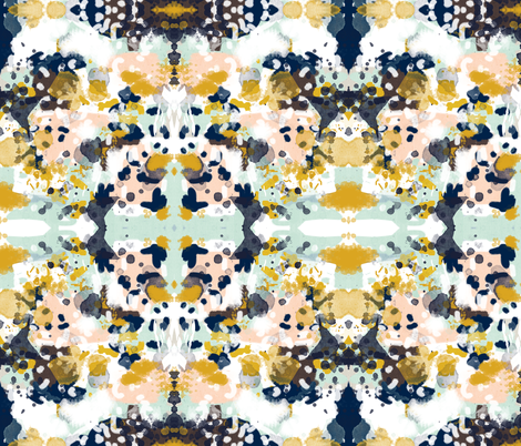 sloane abstract painterly painting design for decor, kids design fabric by charlottewinter on Spoonflower - custom fabric