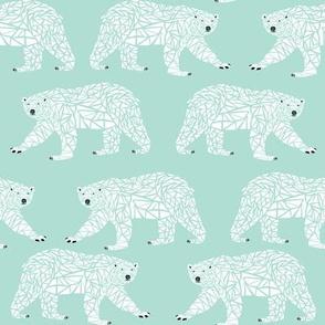 geometric polar bear mint