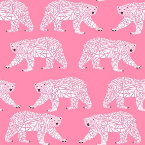 geometric polar bear pink