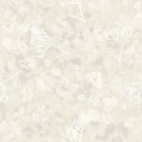 Cream neutral batik style Hydrangea flower