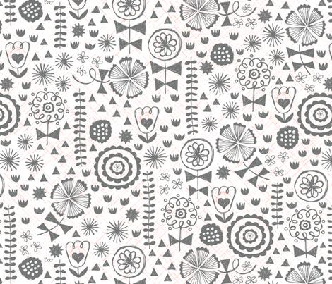 Vintage Garden Floral fabric by studio_amelie on Spoonflower - custom fabric
