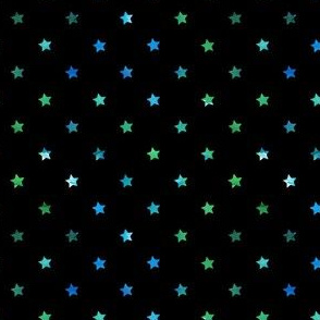 Dark Watercolor Stars blue/green