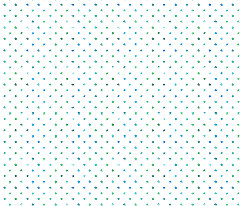 White Watercolor Stars blue/green fabric by geekscraftitbetter on Spoonflower - custom fabric