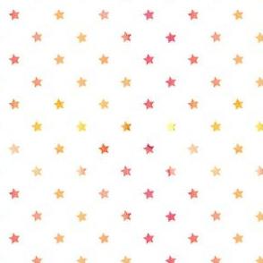 Watercolor stars in red/orange