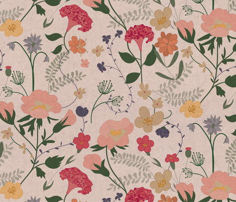 Vintage Botanicals fabric by jenflorentine on Spoonflower - custom fabric