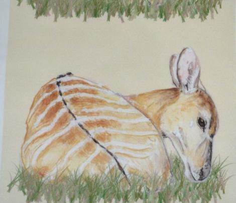 Nyala Antelope, Watercolor, Grassy
