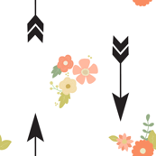 Black arrows and flowers