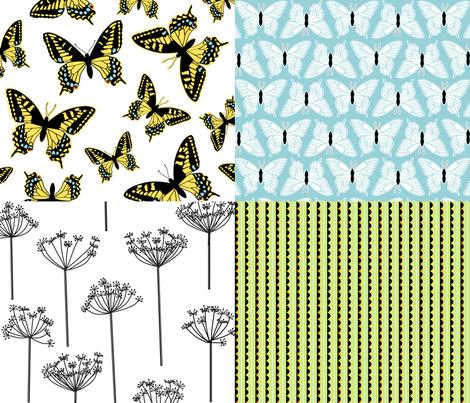 Swallowtail Coordinates fabric by lellobird on Spoonflower - custom fabric