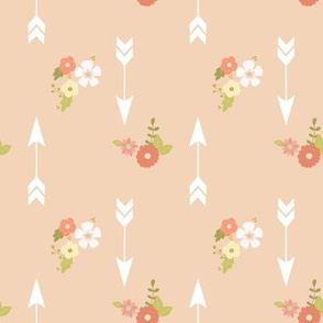 Arrows and flowers on blush