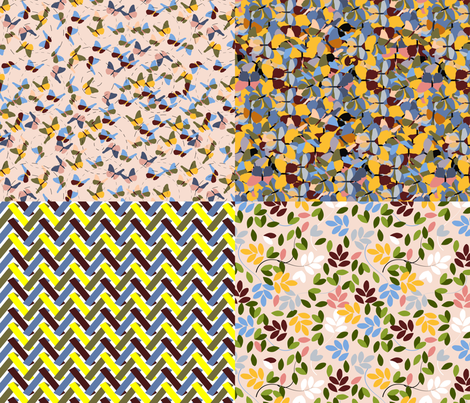 Wings of beauty - butterfly collection fabric by anino on Spoonflower - custom fabric