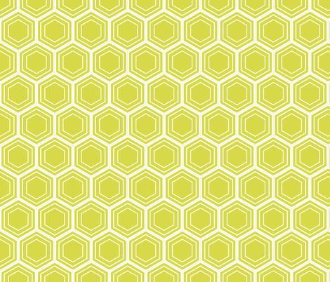 Chartreuse Beehive fabric by brainsarepretty on Spoonflower - custom fabric