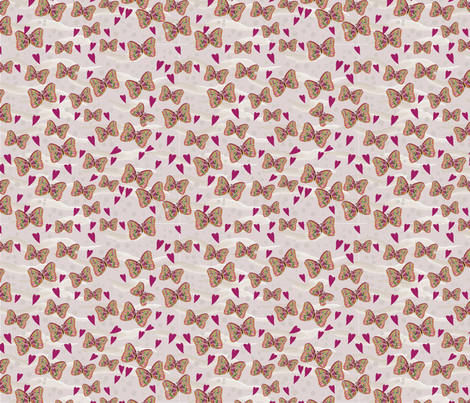 Butterfly Love Coordinating Design fabric by chantelmccabe on Spoonflower - custom fabric