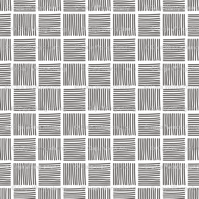 Abstract Stripes Square Black&White