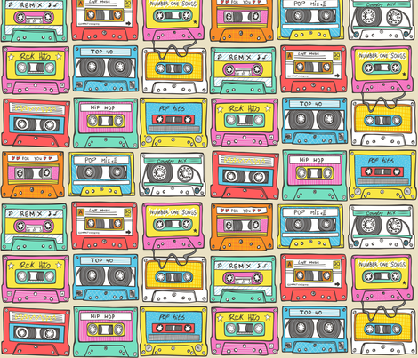 Nostalgia fabric by caja_design on Spoonflower - custom fabric