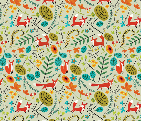 We are the Foxes fabric by acbeilke on Spoonflower - custom fabric