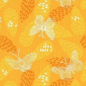 Butterflies at Dawn - Gold