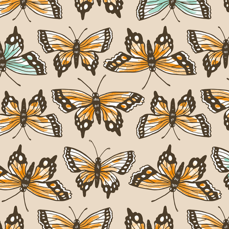 Butterfly Pattern fabric by khubbs on Spoonflower - custom fabric