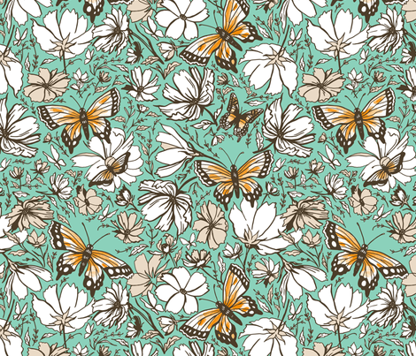Butterfly Garden fabric by khubbs on Spoonflower - custom fabric