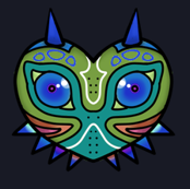 Scary Mask Fabric Dark Background