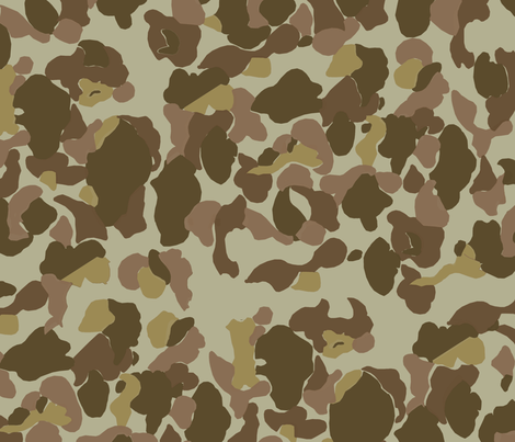 WWII US Camo Beach Side Colorway fabric by ricraynor on Spoonflower - custom fabric