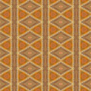 Orange and Brown Tribal Stripes
