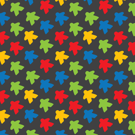 Meeples fabric by pahnita on Spoonflower - custom fabric