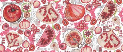 Pomegranate Pattern Studies