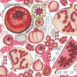 Pomegranate Pattern Studies