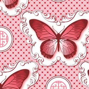 Chinoiserie / Butterfly MainRed