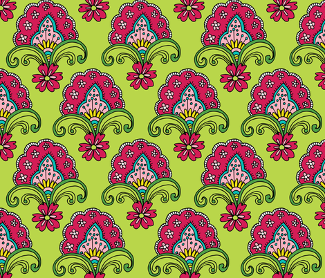 A feast for a butterfly fabric by snowflower on Spoonflower - custom fabric