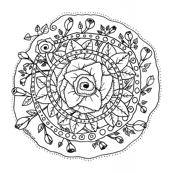 Rose City Mandala to Color