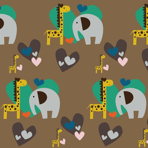 Giraffe loves Elephant