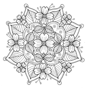 Dogwood Mandala to Color