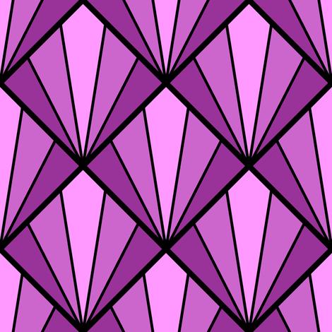 deco diamond 5K : magenta purple fabric by sef on Spoonflower - custom fabric