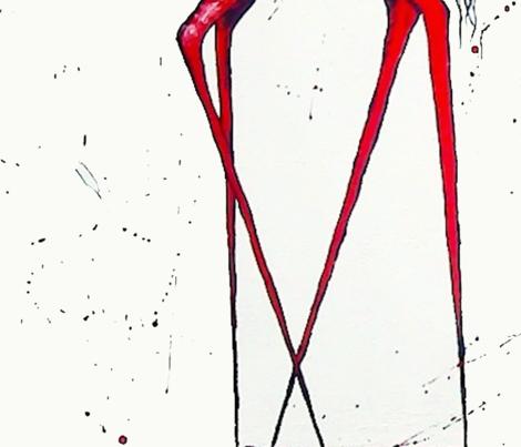 Keep_yer_head_up_tall fabric by walkingraven1 on Spoonflower - custom fabric
