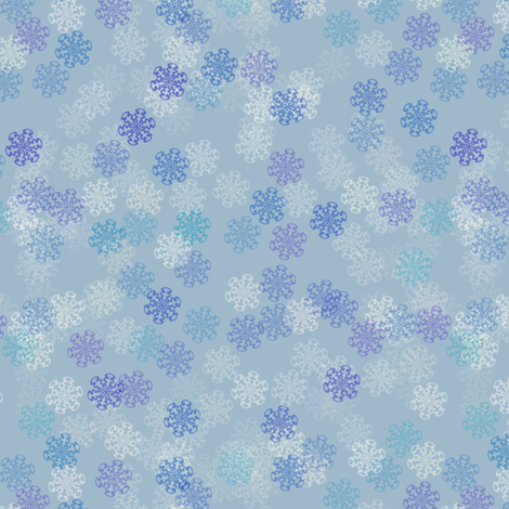 Snowflake Blues fabric by eclectic_house on Spoonflower - custom fabric