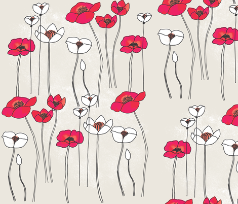 Lofty Blossoms fabric by onelittleprintshop on Spoonflower - custom fabric