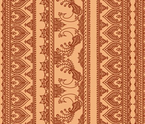 Henna Mehndi fabric by miss_motley on Spoonflower - custom fabric