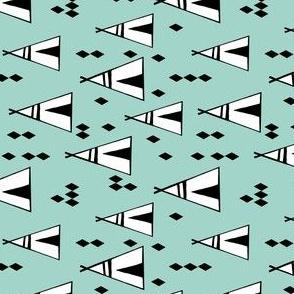 teepee // tipi southwest baby nursery mint kids design