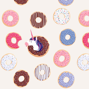 Dave the unicorn and its donuts