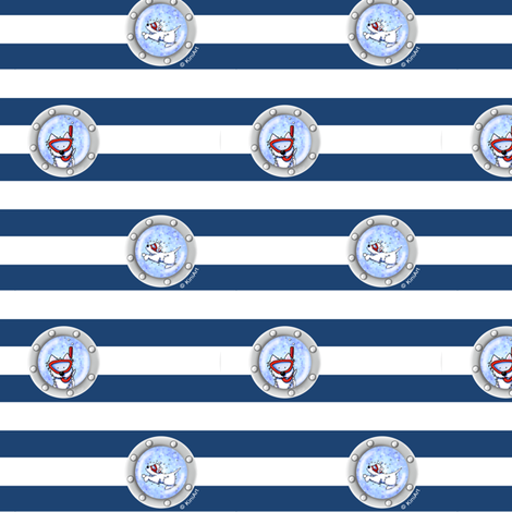 Tiny KiniArt Westie Portholes fabric by kiniart on Spoonflower - custom fabric
