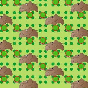 Racing Elephants Lime Green